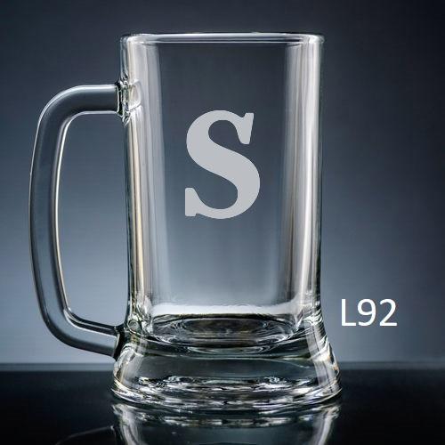 Sencillo Beer Mug Glass - 10 fonts