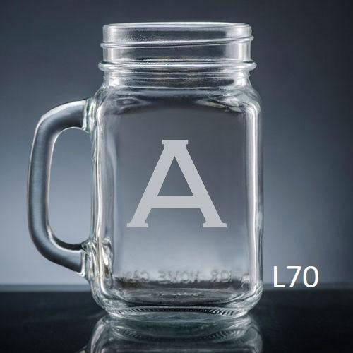 Sencillo Mason Jar Glass - 10 fonts