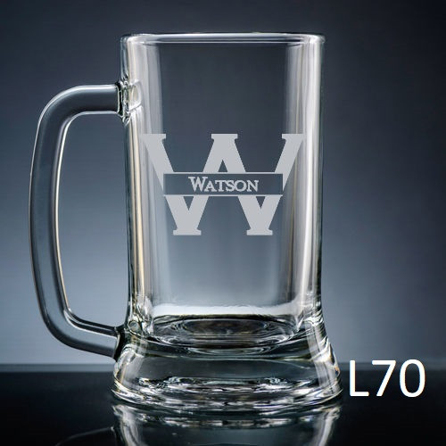 Ensenada Beer Mug Glass - 10 Fonts