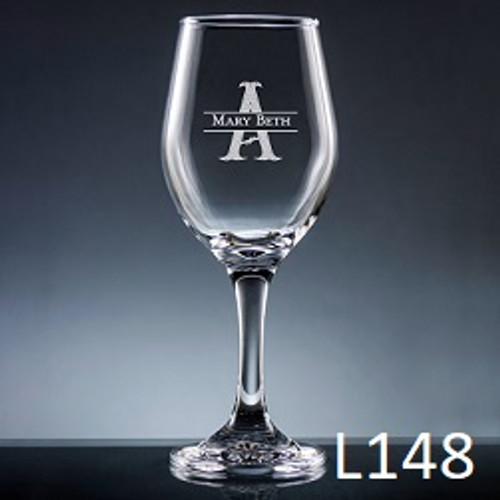 Ensenada Wine Glass - 10 Fonts