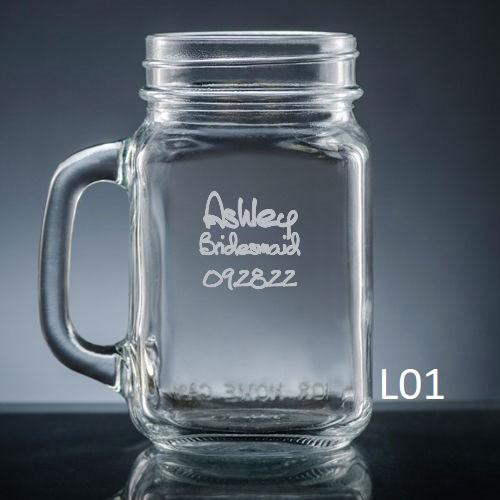 Palacio Mason Jar Glass - 7 fonts