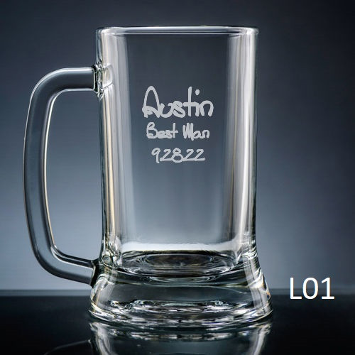 Palacio Beer Mug Glass - 7 fonts