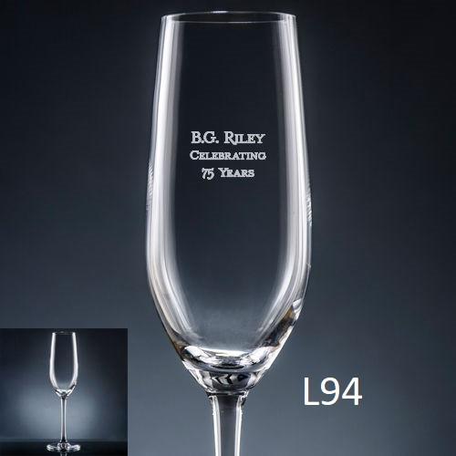 Palacio  Champagne Flute - 7 fonts