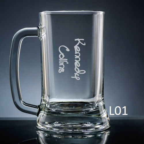 Colima Beer Mug Glass - 10 fonts