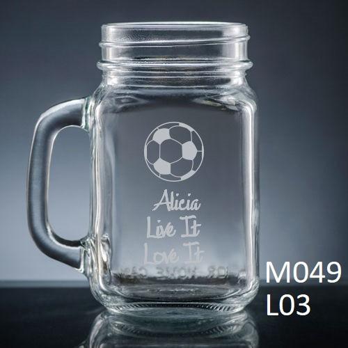 Athlete Mason Jar Glass - 7 icons
