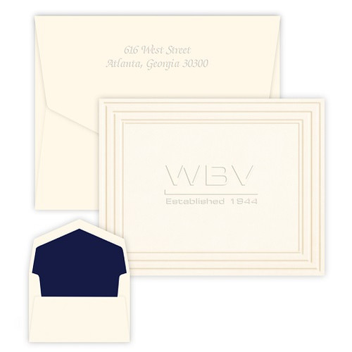 Your Logo Embossed Classic Frame Note