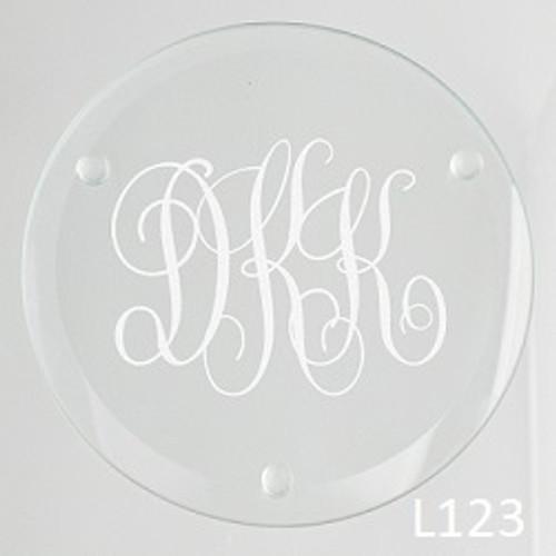 Bronson Monogram Glass Coaster Set -8 Fonts