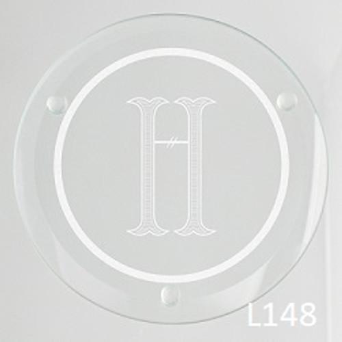 Rockford Glass Coaster Set -3 Fonts