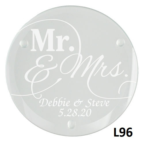Modern Love Glass Coaster Set - 5 Fonts