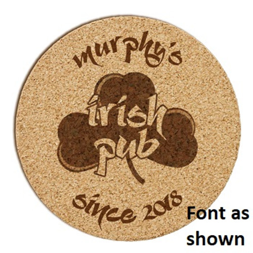 Irish Pub Cork Coaster Set
