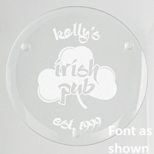 Irish Pub Glass Coaster Set
