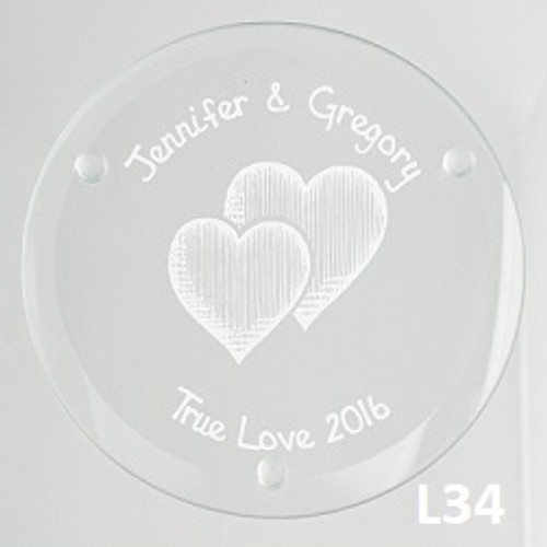 Party Icon Glass Coaster Set - 4 Fonts