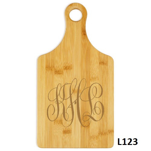Delavan Monogram Paddle Cutting Board- 10 Fonts