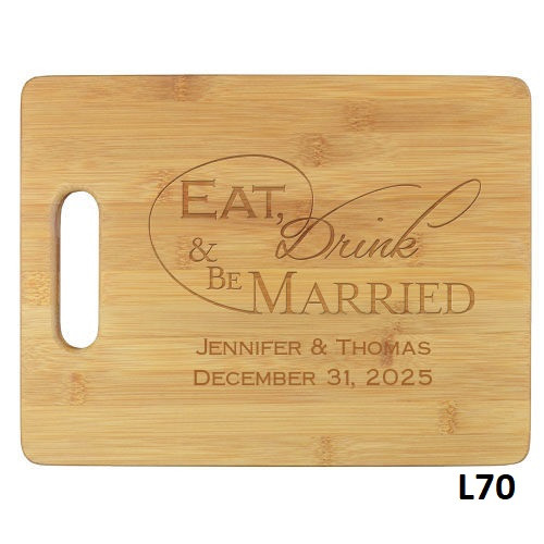 Wedded Bliss Cutting Board - 10 Fonts