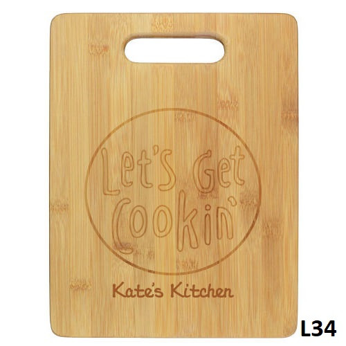 Cookin Cutting Board- 4 Fonts