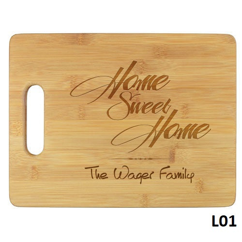 Home Sweet Home Cutting Board - 5 Fonts