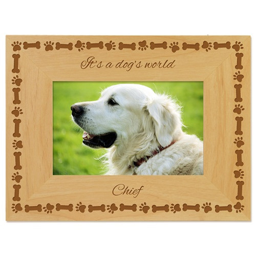 Dog's World Picture Frame