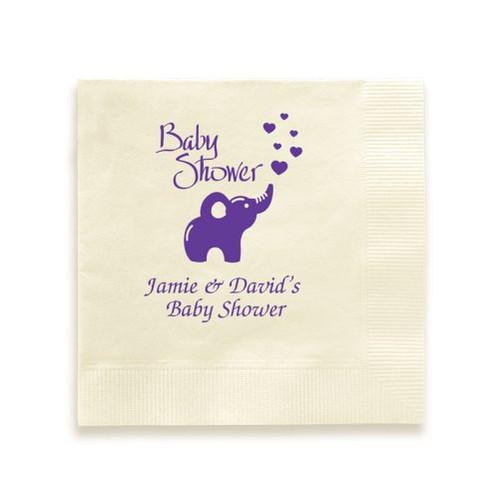 Elephant Baby Shower Napkin