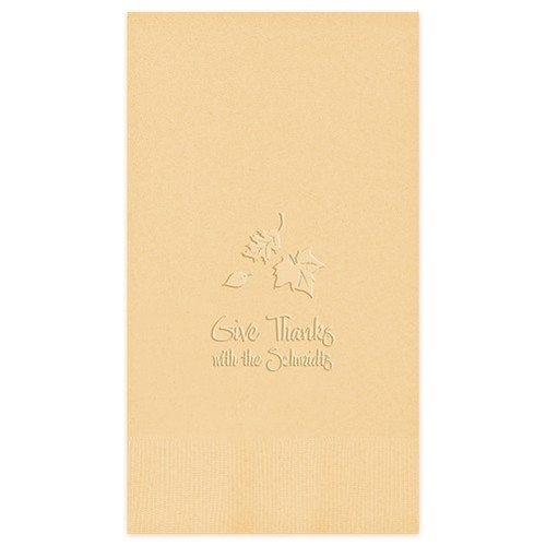 Embossed Autumn Guest Towel