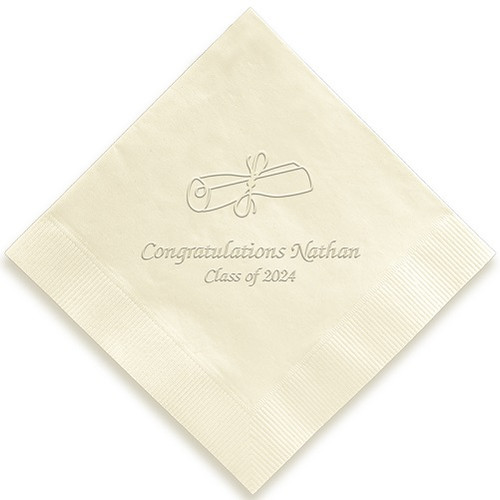 Embossed Graduation Napkin