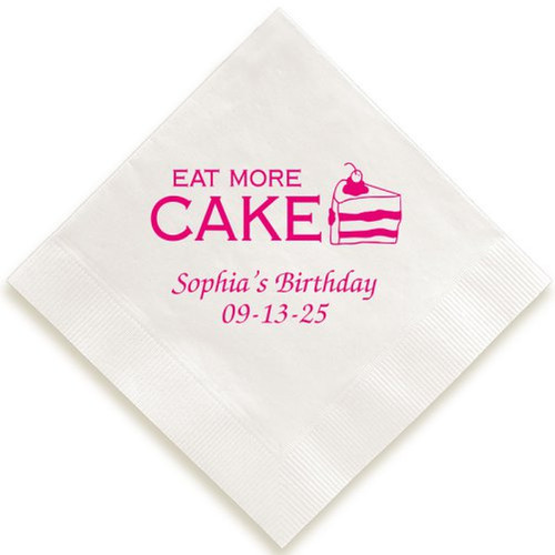 Eat More Cake Napkin