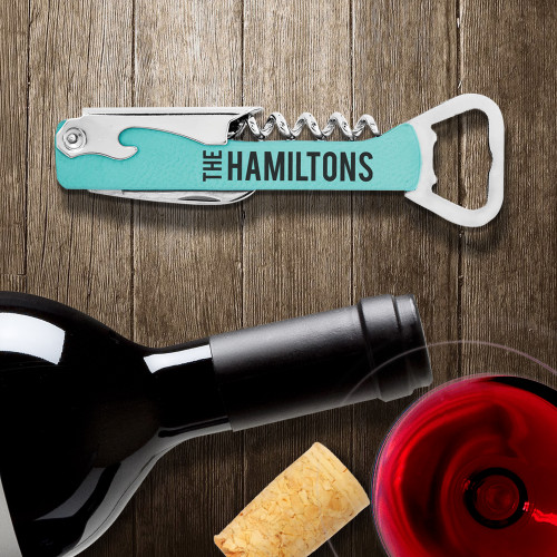 Personalized Corkscrew and Bottle Opener
