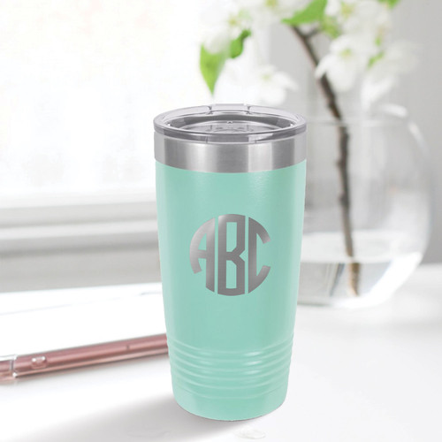 Circle Monogram 20 Ounce Tumbler - multiple colors