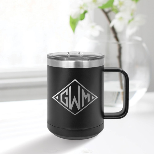 Diamond Monogram 15 Ounce Mug