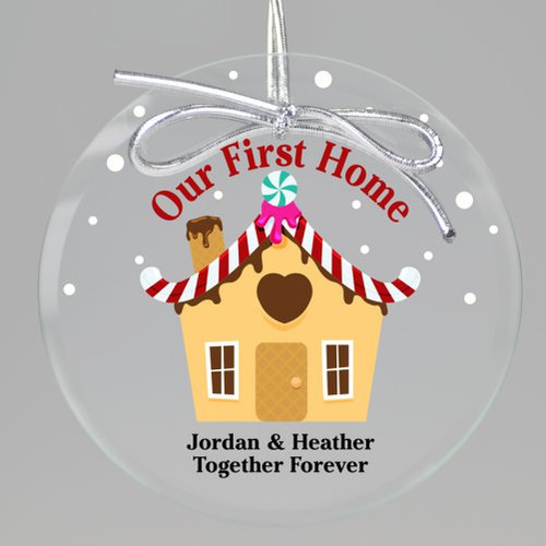 Gingerbread House Christmas Printed Ornament