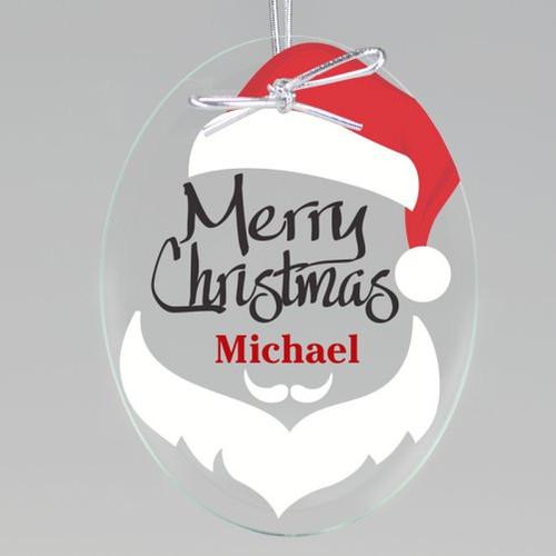 North Pole Santa Keepsake Ornament - Oval