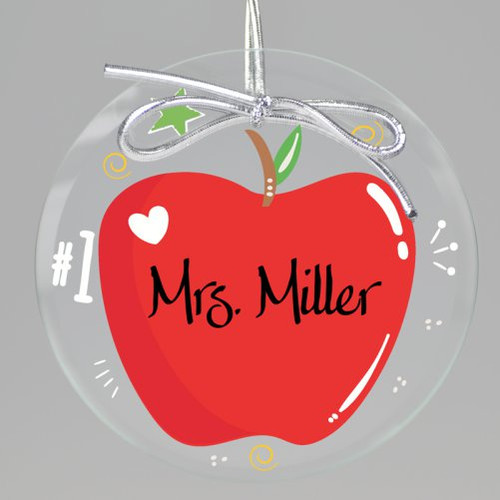 Apple A Day Teacher Keepsake Printed Ornament