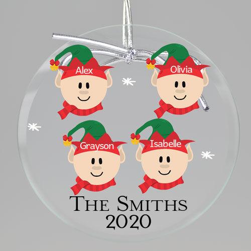 Santa Elves Keepsake Printed Ornament