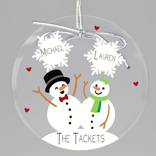 Snow In Love Keepsake Printed Ornament