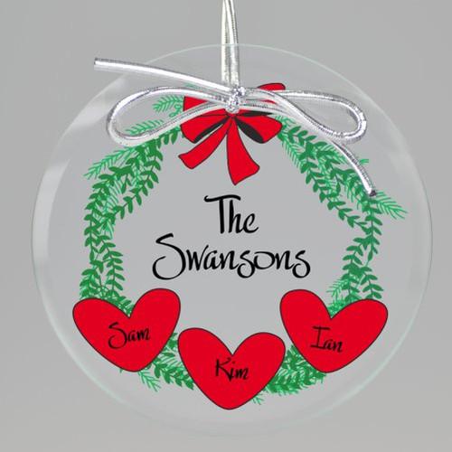 Holiday Wreath Keepsake Printed Ornament