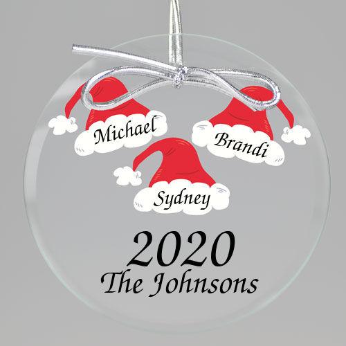 Santa Hat Keepsake Printed Ornament