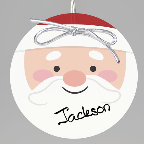 Santa Claus Keepsake Printed Ornament