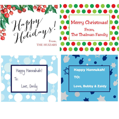 Holiday Gift Stickers - Assorted Styles