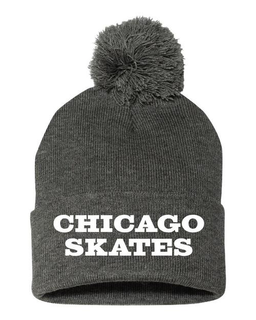 Chicago Skates Pom Pom Hat