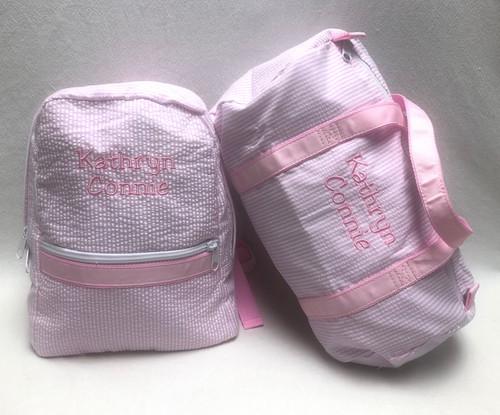 Pink Seersucker Toddler Set