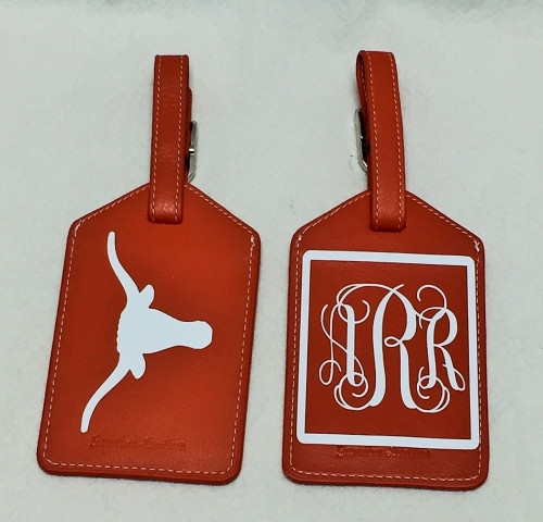 Bag Tag Set with School and Monogram or Initials