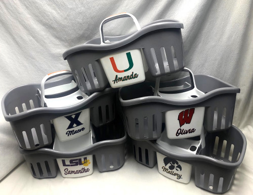 Collegiate Shower Caddy - Custom Made for Any School