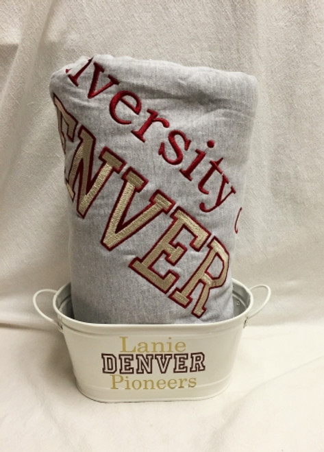 Gift Set: Sweatshirt Blanket and Catchall- Add your school