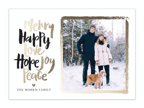 Merry Happy Love Hope Joy Peace Holiday Photo Card