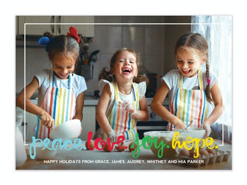Peace Love Joy Hope Holiday Photo Card