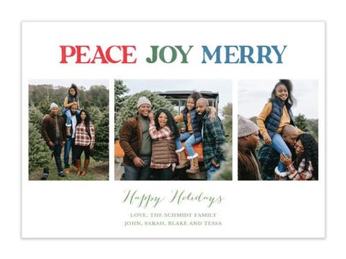 Peace Joy Merry Holiday Photo Card