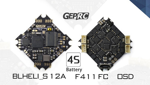 GEPRC F4 Flight Controller AIO + ESCs 12A BL_S 2-4S