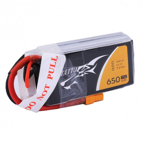 Tattu 3S 650mAh 75C | XT-30 FPV LiPo Battery 11.1 V