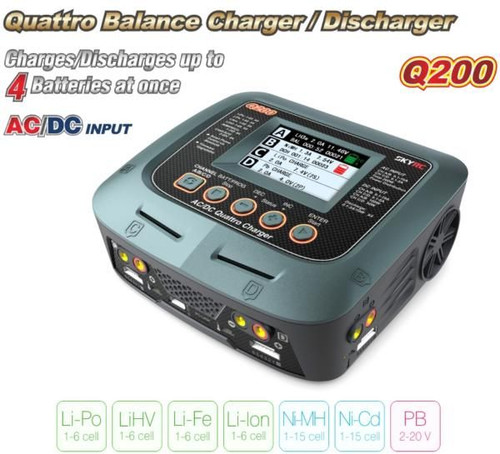 SKYRC Q200 4 Ports CHARGER - 1-6S 10A 2X100 2X50W