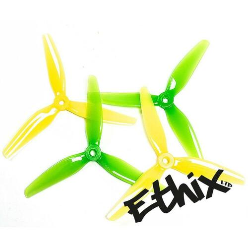 HQProp Ethix S4 Lemon/Lime | 5 x 3.65 x 3 Freestyle Prop - 4 pcs. set
