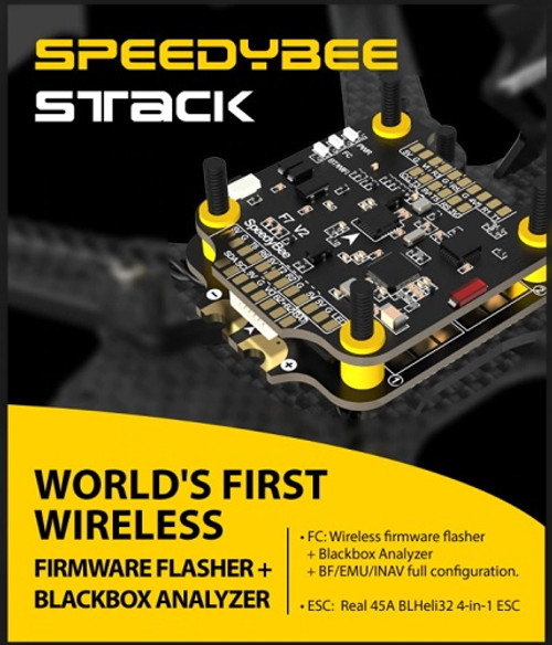 SPEEDYBEE STACK | F7 FC + 45 Amp ESC | Wireless Configuration